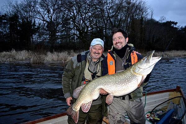 Enrico Pini 40lb 8oz fly caught pike